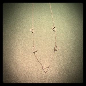 Sweet necklace with heart shaped stations.
